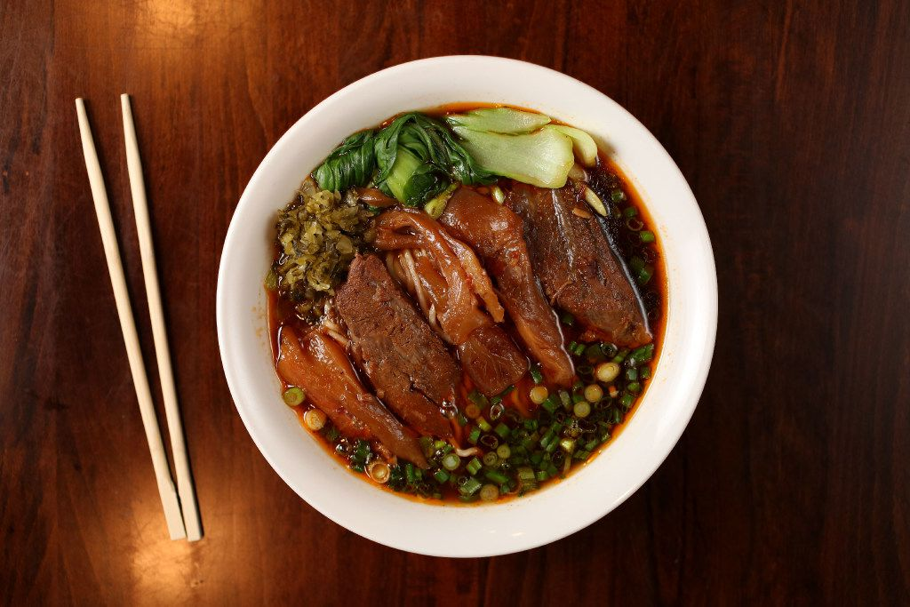 Braised beef and tendon noodle soup at Wu Wei Din Chinese Cuisine (Rose Baca/Staff Photographer)