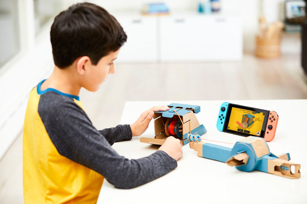 The Toy-Con Fishing Rod is included as part of the Nintendo Labo Variety Kit. Nintendo Switch system required (sold separately).