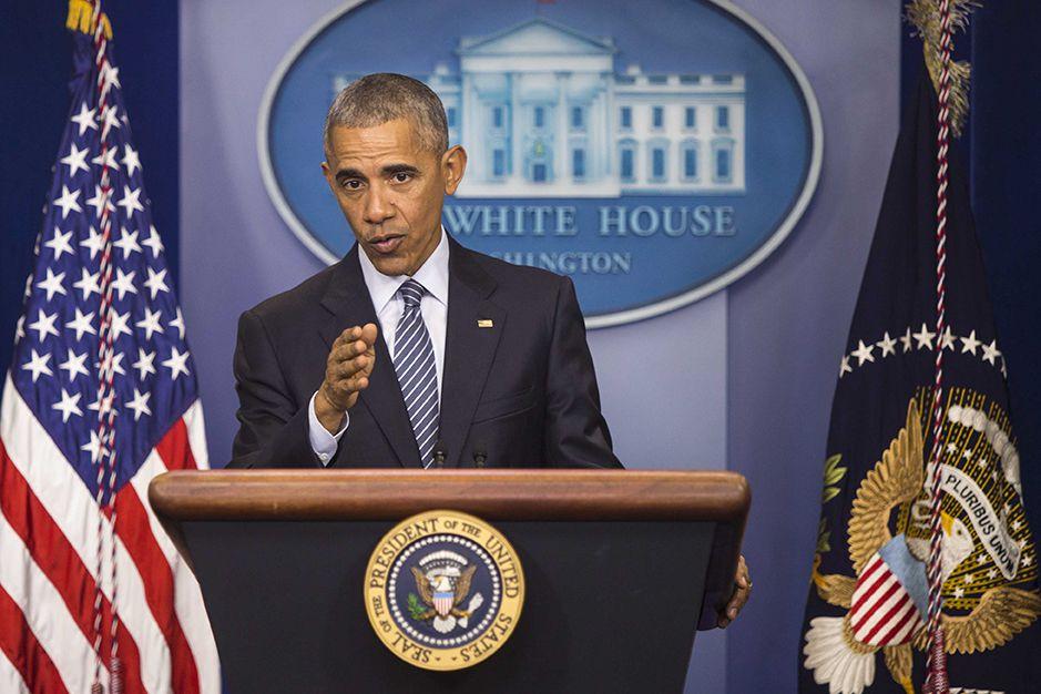El presidente Barack Obama durante una rueda de prensa en la Casa Blanca el lunes 14 de noviembre 2016. (ARCHIVO/AP)