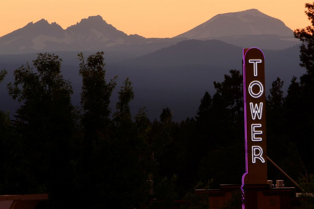 Bend's historic Tower Theatre offers films, concerts and other live performances with a breathtaking view of the surrounding mountains.