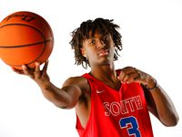South Garland junior Tyrese Maxey is the 2018 Dallas Morning News boys basketball player of the year.  He poses in the studio, Thursday, March 22, 2018. (Tom Fox/The Dallas Morning News)