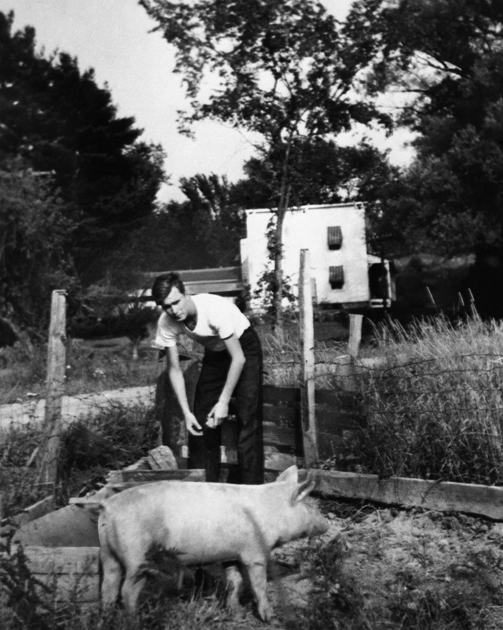 1939: George H.W. Bush at summer camp. He was born  June 12, 1924 in Milton, Mass.