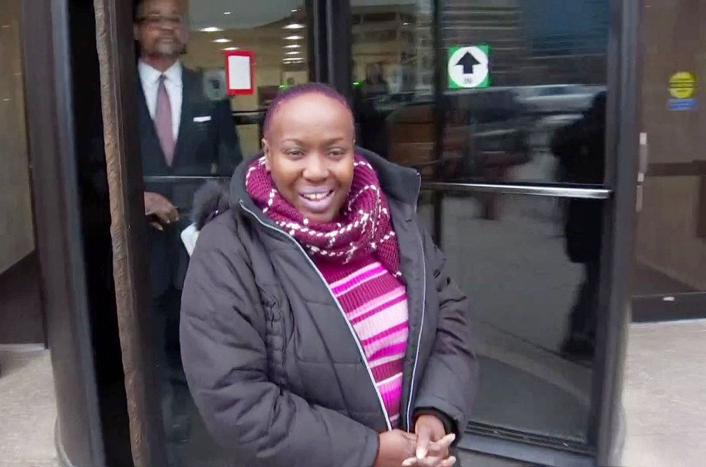 Former Dallas City Council member Carolyn Davis as she exited the Earle Cabell Federal Building on March 1, after she pleaded guilty to taking $40,000 in bribes from Ruel Hamilton. She was killed four months later by a man who confessed to driving while high.