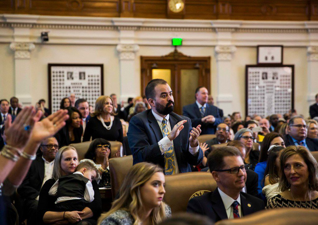 El Paso Democratic Rep. Joe Moody, shown on opening day of the 2017 session, is no longer the House's speaker pro tem. Speaker Dade Phelan, R-Beaumont, stripped him of the title Thursday for participating in a quorum break by Democrats angered by a GOP-backed election bill.