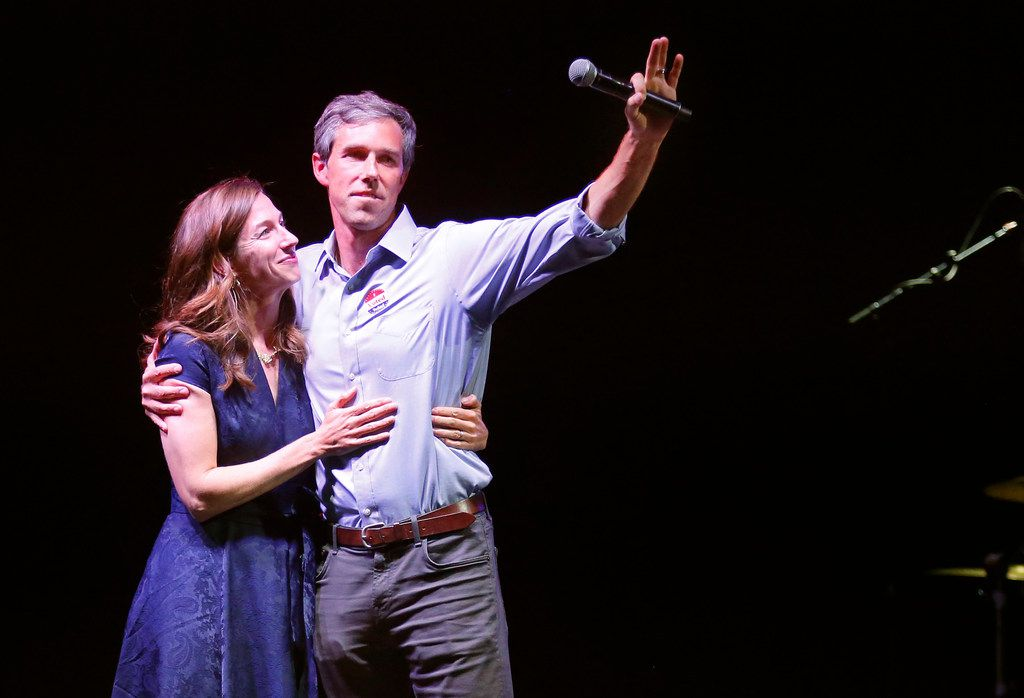 Rep. Beto O'Rourke and his wife, Amy, came out to thank supporters in El Paso after he conceded to Sen. Ted Cruz on Election Night.