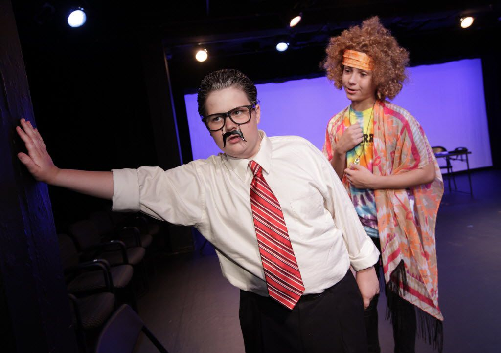 "Alex Duva, left, as Rush Limbaugh and Joseph Nativi as Nina Egly perform in ""Rush Limbaugh in Night School"" during the 18th Annual Festival of Independent Theatres at the Bath House Cultural Center in Dallas, TX, on Jul. 8, 2016. (Jason Janik/Special Contributor)"