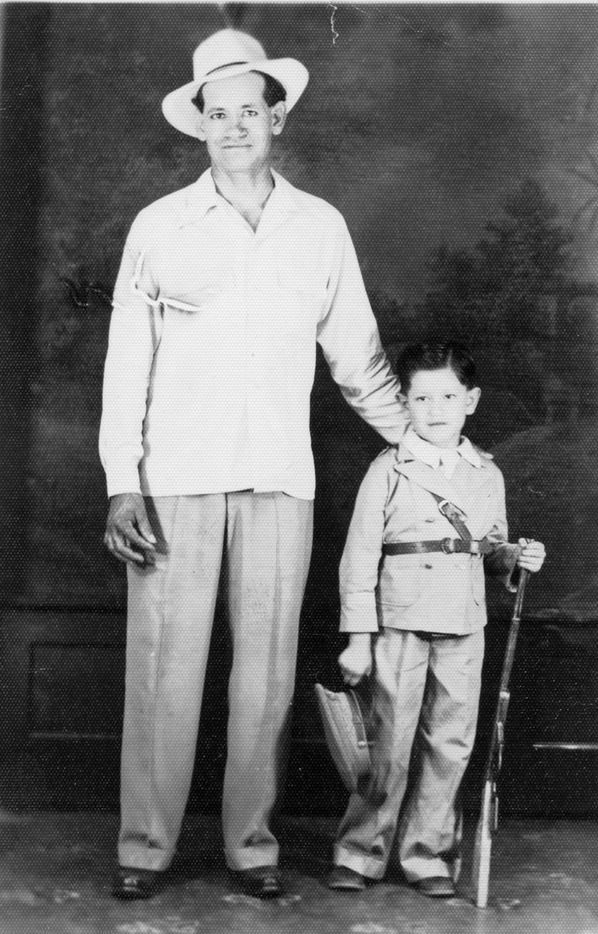Trini Lopez as a young boy with his father.