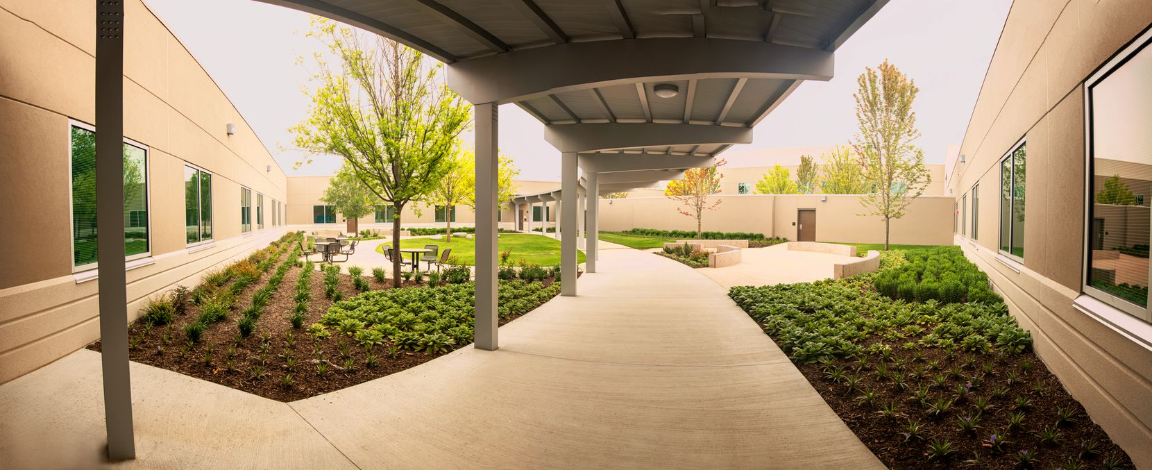 A view of Medical City McKinney's new behavioral health pavilion at the Medical City McKinney main campus. The facility is now open after two years of construction.