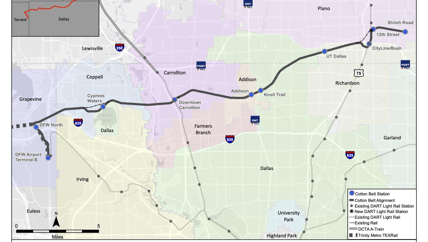 El costo estimado de construcción de la Línea Plata del DART será de alrededor de $1,200 millones.