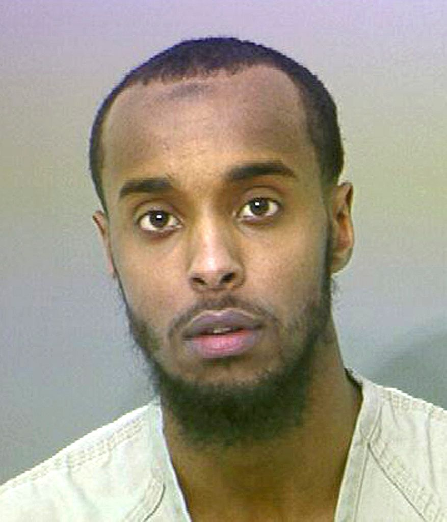 Abdirahman Sheik Mohamud, of Columbus, was accused in April 2015 of receiving training on weapons, combat and tactics in Syria, and then returning to the U.S. with a plan to attack a military base or a prison. The attacks were never carried out.
