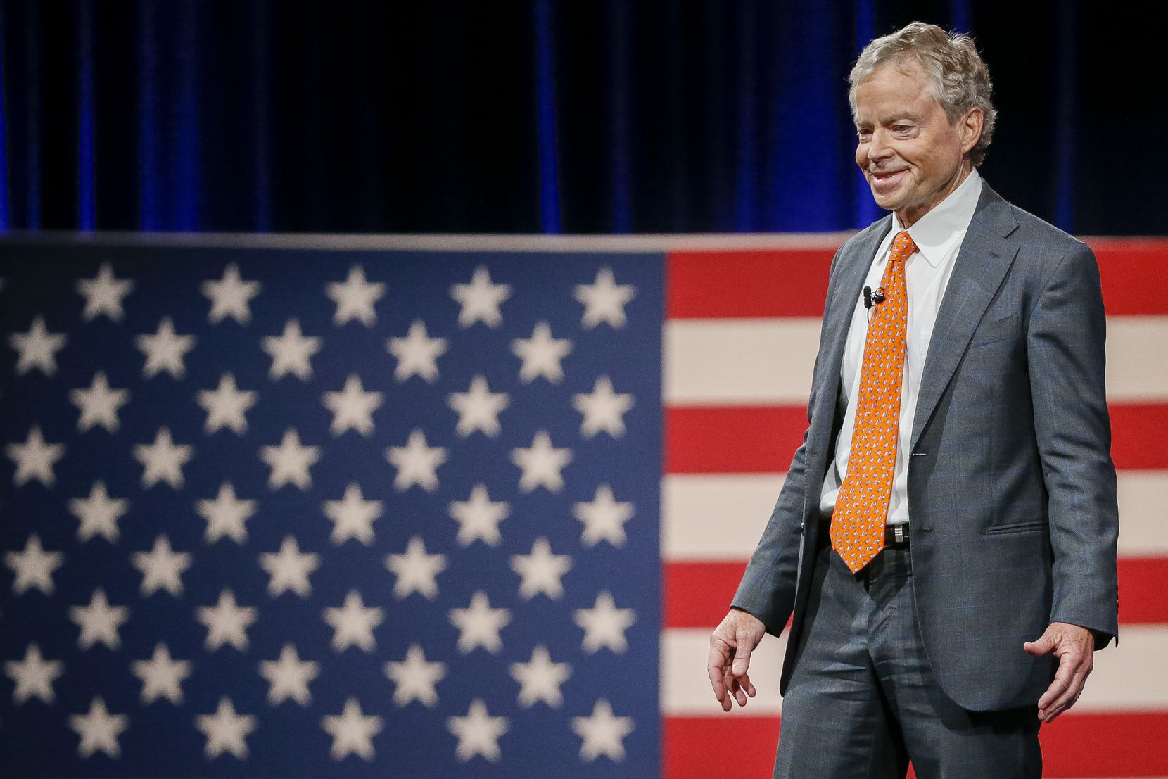 Former Texas state Sen. Don Huffines gives remarks at the Conservative Political Action Conference in Dallas.