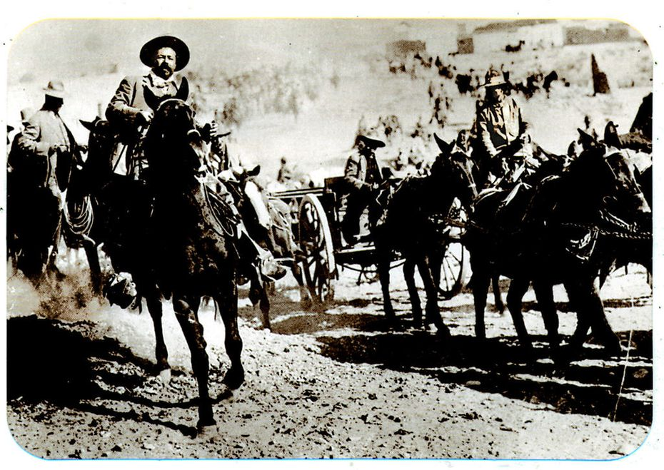 Pancho Villa rode at the head of his rebel army in Mexico in 1916. American soldiers pursued Villa into Mexico after the raid on Columbus, N.M., but he eluded capture. He was assassinated by political enemies in Mexico in 1923.