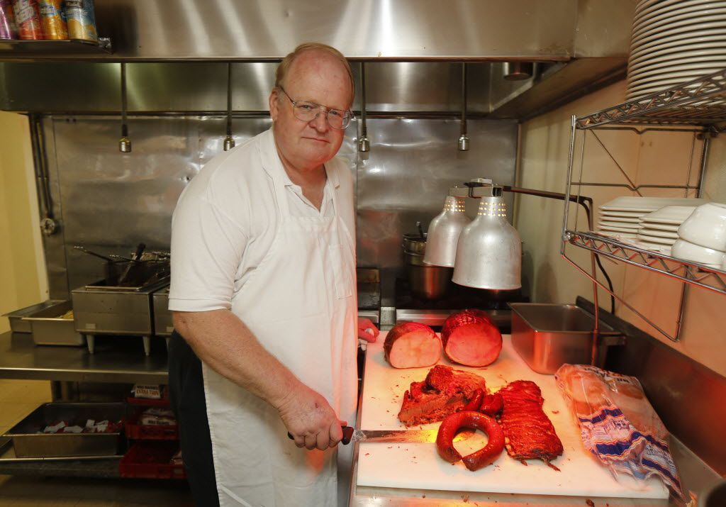 Billy McDonald at Mac's Bar-B-Que, which his dad started, officially, in 1955. (File Photo/The Dallas Morning News)