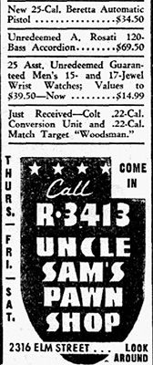 Dallas Morning News advertisement, May 6, 1948.