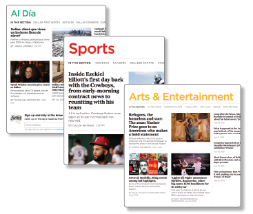 DallasNews, GuideLive, SportsDay, and Al Día have merged into one, easier-to-navigate site.