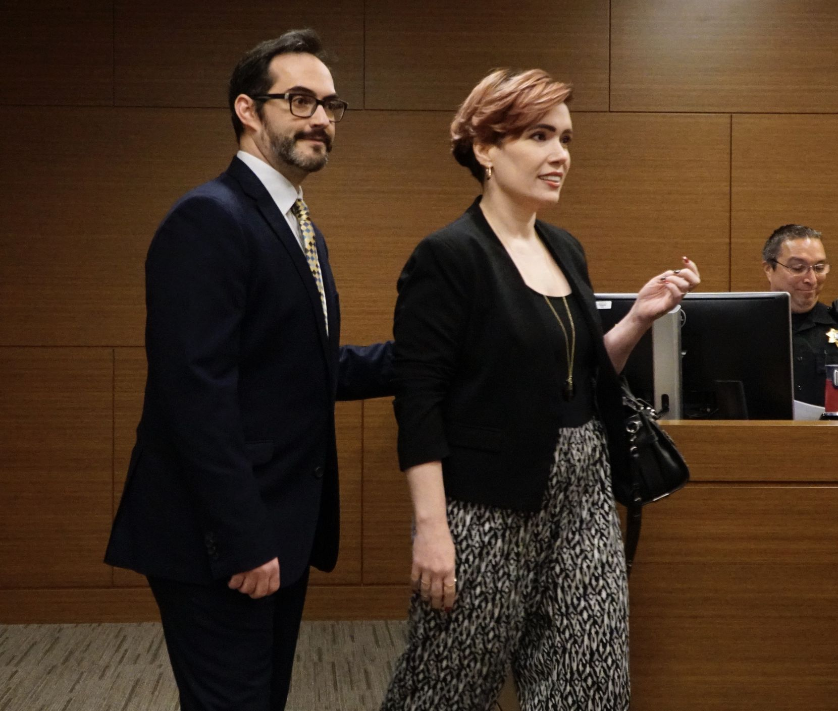 Ron Toye and Monica Rial, two of the four defendants whom anime voice actor Vic Mignogna filed a defamation lawsuit against were among those in the courtroom Thursday.