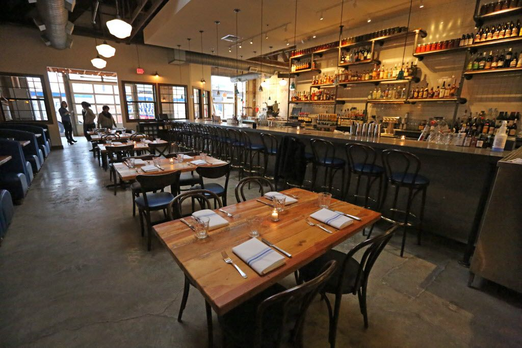 A look at the dining and bar area at the new restaurant, Filament, at 2626 Main Street in Deep Ellum in Dallas, photographed on Tuesday, December 1, 2015. (Louis DeLuca/The Dallas Morning News)