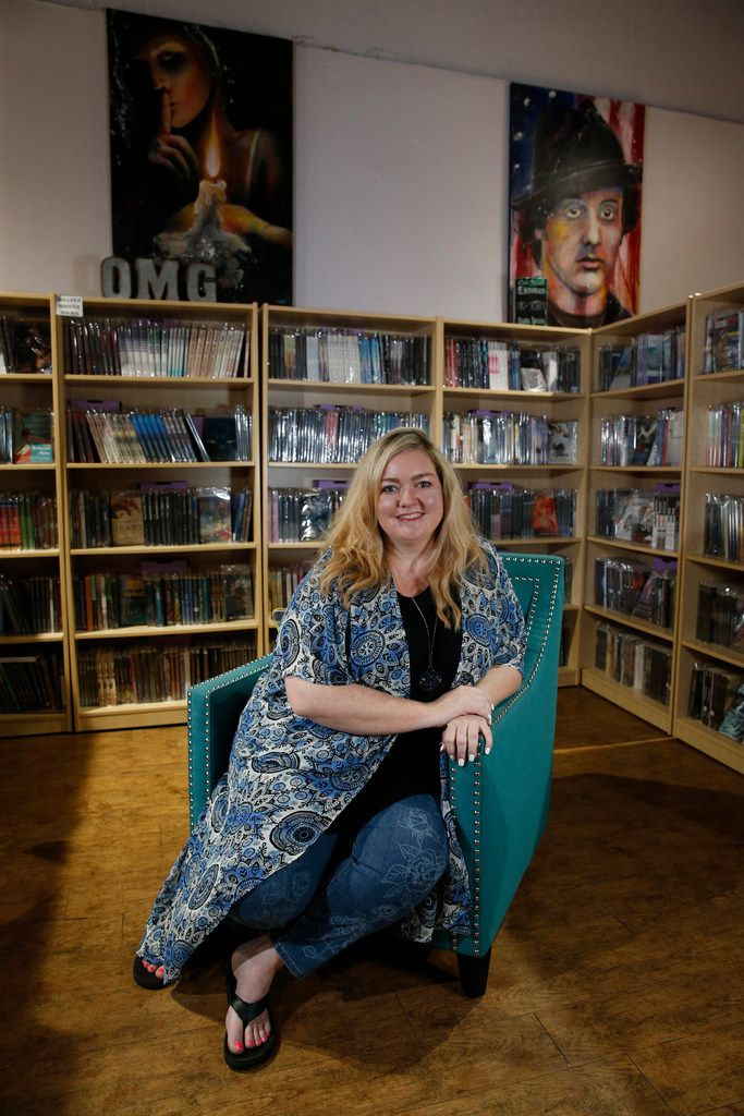 Author Colleen Hoover  at her bookstore in Sulphur Springs, Texas.