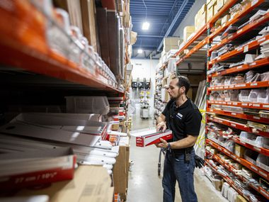 Jason Burchfield, an employee with The Container Store, worked in the stockroom at a store in Dallas last year.
