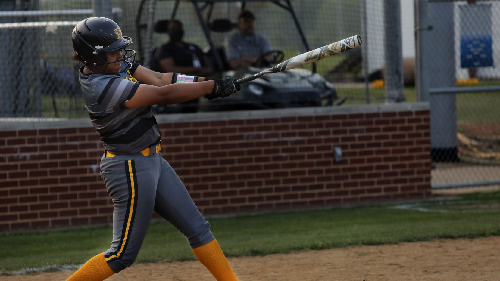 Vanessa Hollingsworth swings for the ball during a softball game between Forney at North Forney at North Forney High School in Forney, TX, on Apr. 9, 2021.