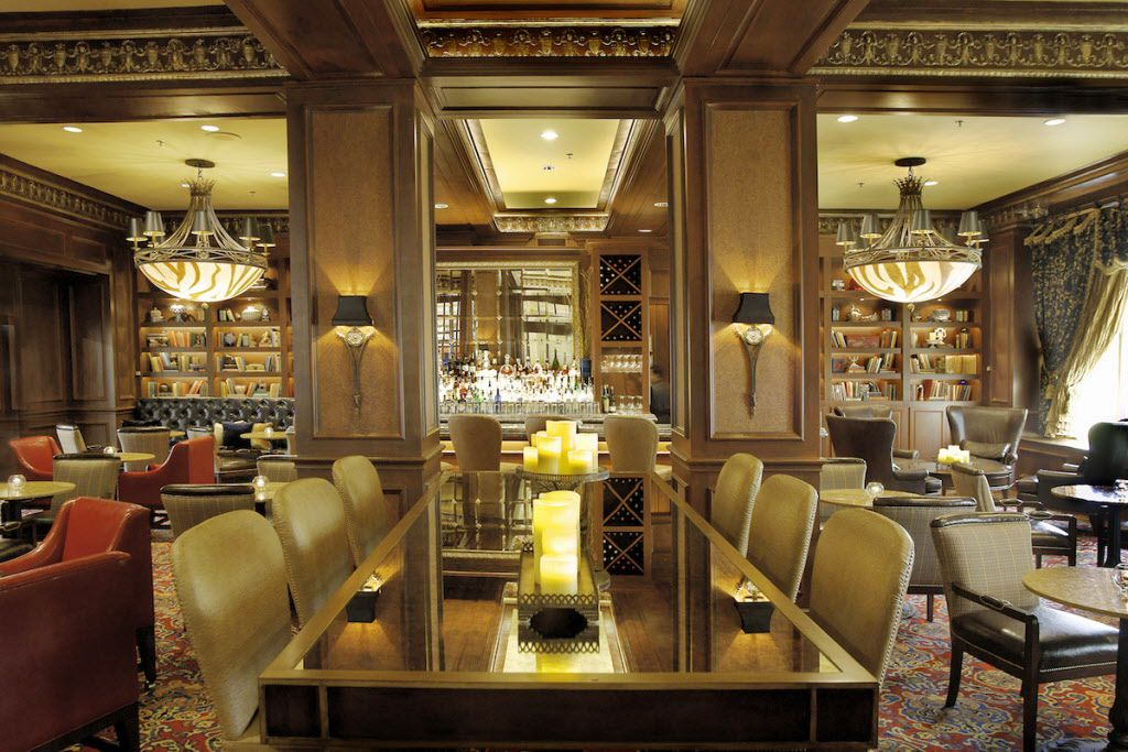 The Library bar inside the Warwick Melrose Hotel in Dallas.