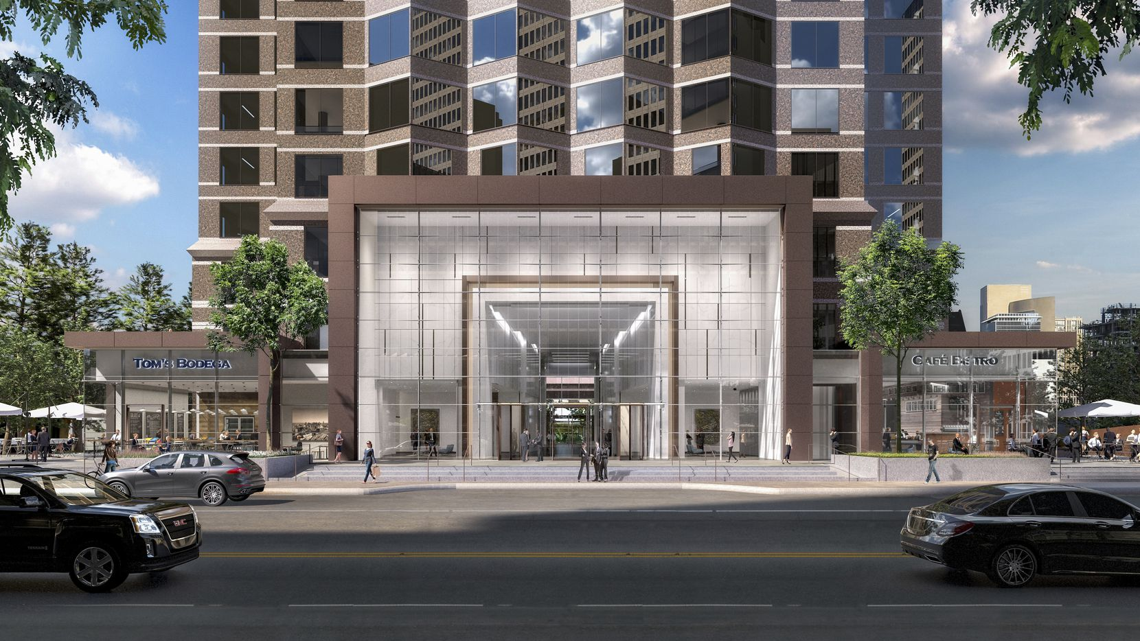 Goldman Sachs has moved into more than six floors in downtown Dallas' Trammell Crow Center tower which is being remodeled.