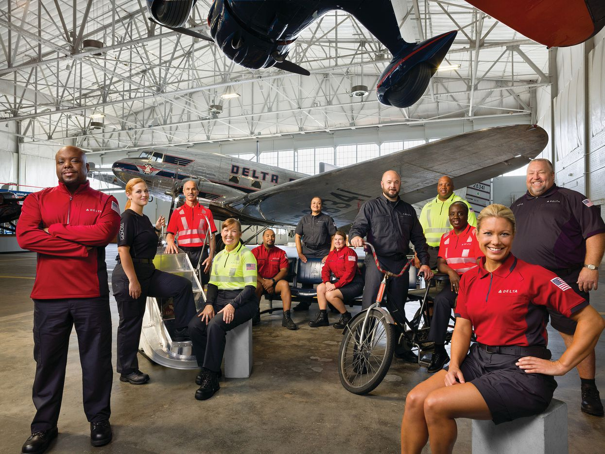 Delta Air Lines debuted new uniforms for 64,000 employees on Tuesday, the first new design in over a decade