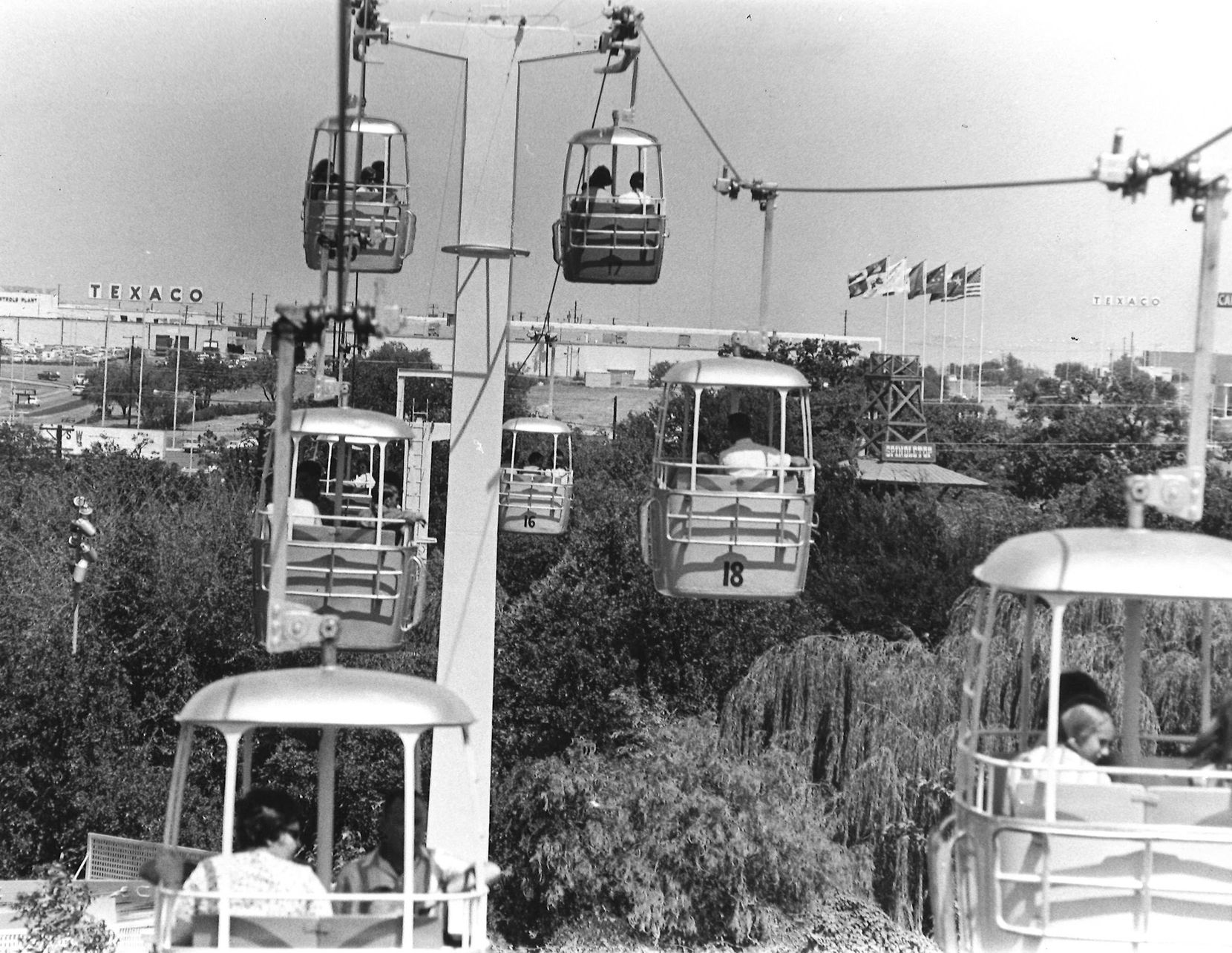 The futuristic Astrolift was one of the original rides at Six Flags in 1961 but was removed in 1980 due to expensive repair needs and decreased ridership among other factors.