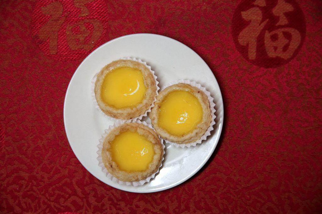 Egg custard tart, a dessert at Kirin Court. Crusts should be flaky and delicate.