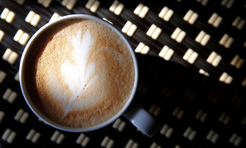 A cup of Latte at Village Baking Co. in Dallas, Wednesday, Sept. 27, 2017. (Jae S. Lee/The Dallas Morning News)