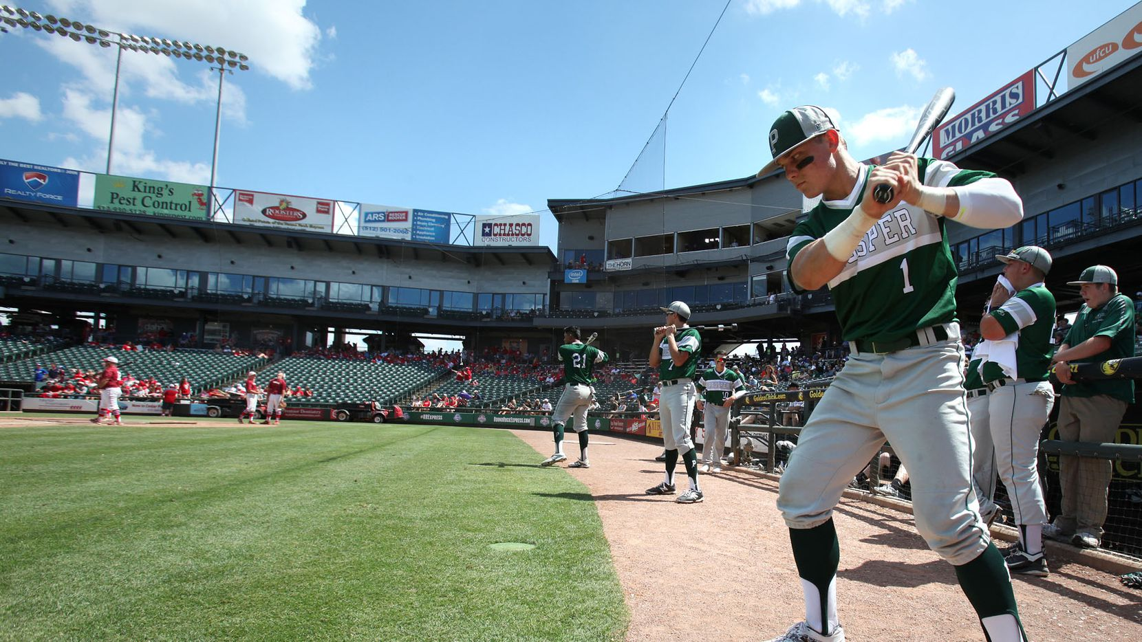 FILE - Prosper's Steele Walker(1) warms up during the UIL State Baseball 5A semifinal in Round Rock on Thursday, June 11, 2015. (Stephen Spillman/Special Contributor)