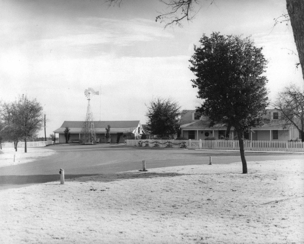 An undated photo of the Big House at the Toddie Lee Wynne family's Star Brand Ranch in Kaufman County.