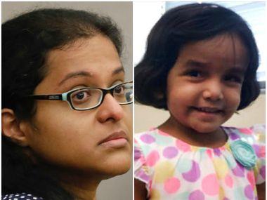 Sini Mathews and 3-year-old Sherin Mathews
