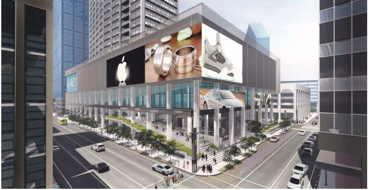 The former First National Bank tower is being redeveloped into a mixed-use project called The Drever.