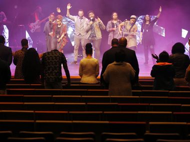 The worship team on stage and a handful of church leaders wasn't nearly enough to fill up One Community Church in Plano on Sunday. With large public gatherings increasingly discouraged or outright banned amid the coronavirus pandemic, One Community was among many churches that switched over to an online format.