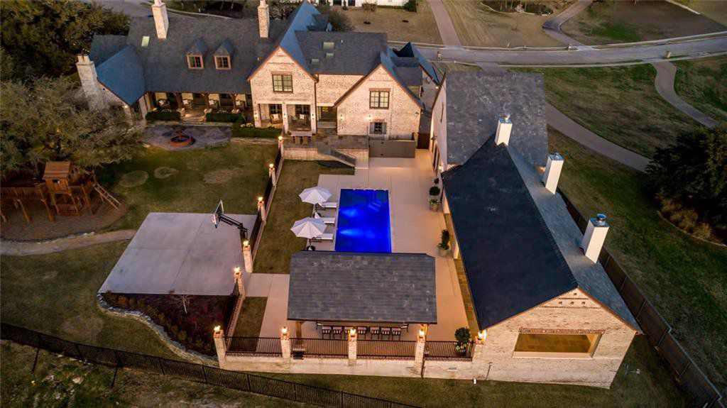 The $2.5 million estate has a pool and pool house with gym.