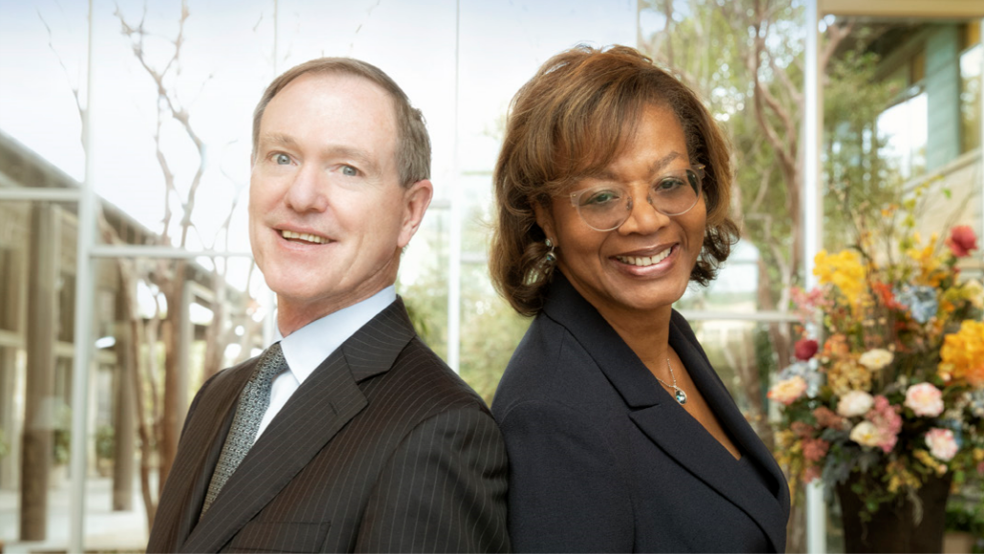 According to Communities Foundation of Texas President and CEO Dave Scullin (pictured left with Alfreda Norman, board chair and senior vice president of the Federal Reserve Bank of Dallas), the online directory helps further the organization's vision of a thriving community for all by building the capacity of its nonprofit sector.