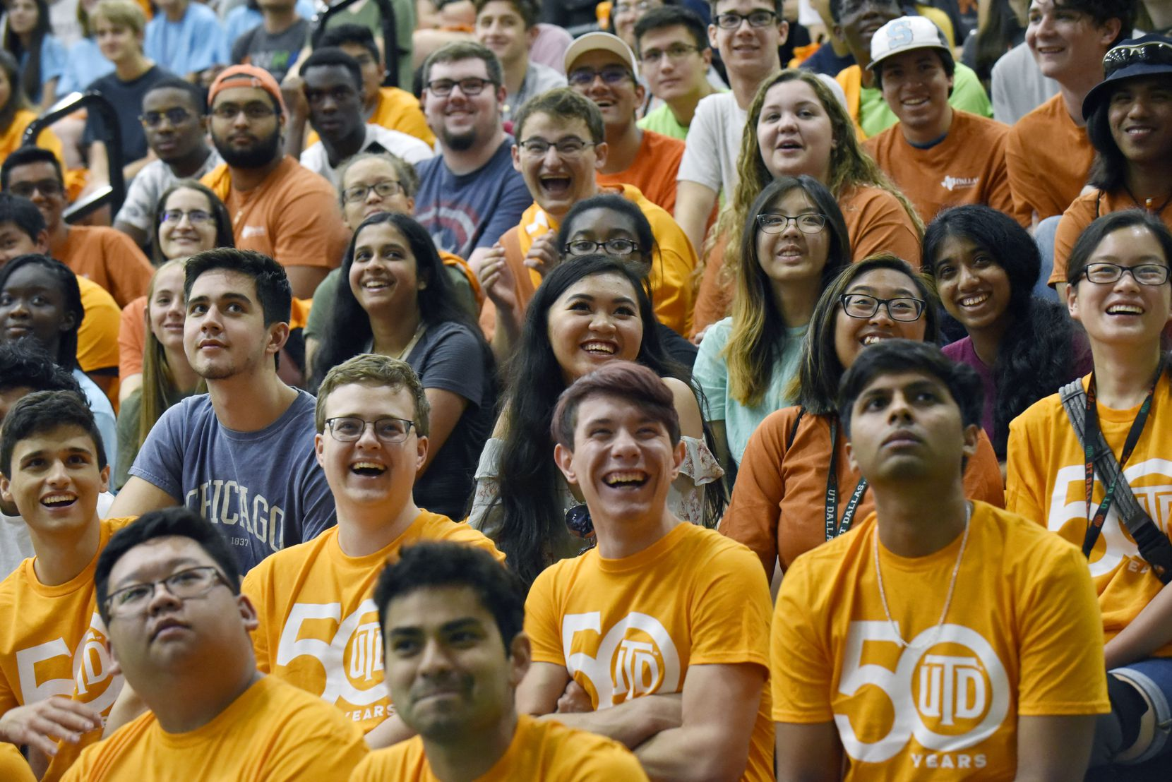 Last year's new student convocation. The University of Texas at Dallas' celebrated its 50th anniversary in 2019. Ben Torres/Special Contributor