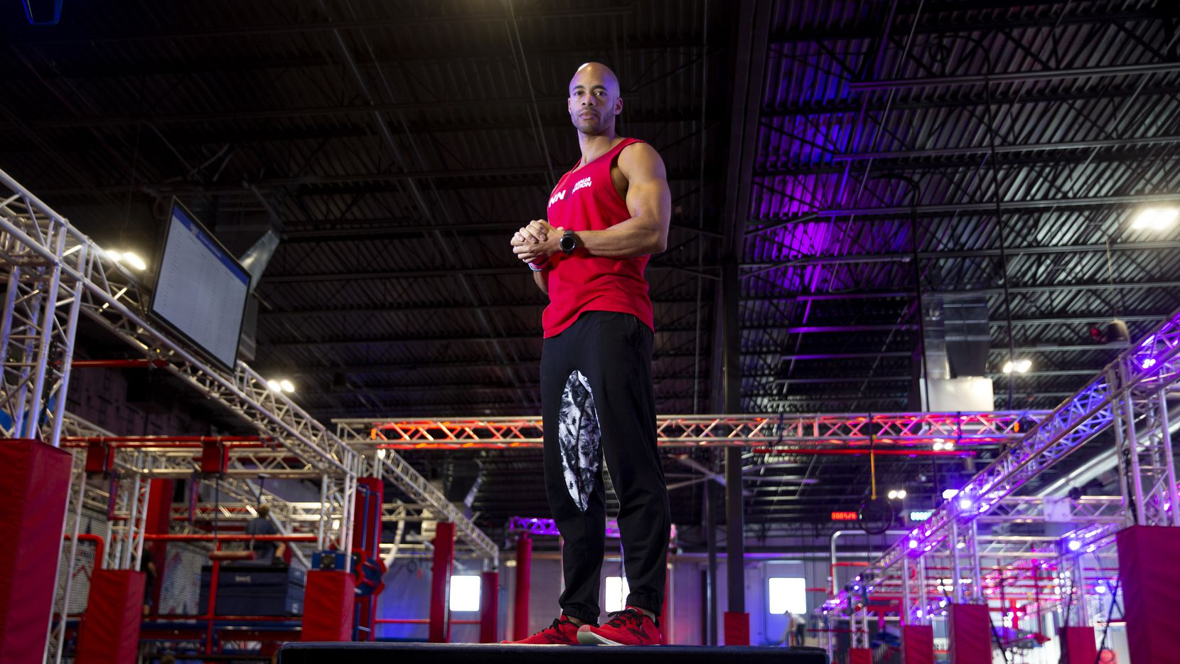 American Ninja Warrior competitor Karsten Williams uses Ninja Nation in Frisco as the base for his training and his job.