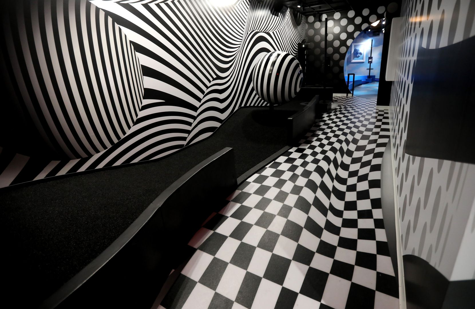 A hole in the Illusion room at Puttery, a new indoor mini golf and entertainment concept in The Colony. (Anja Schlein/Special Contributor)