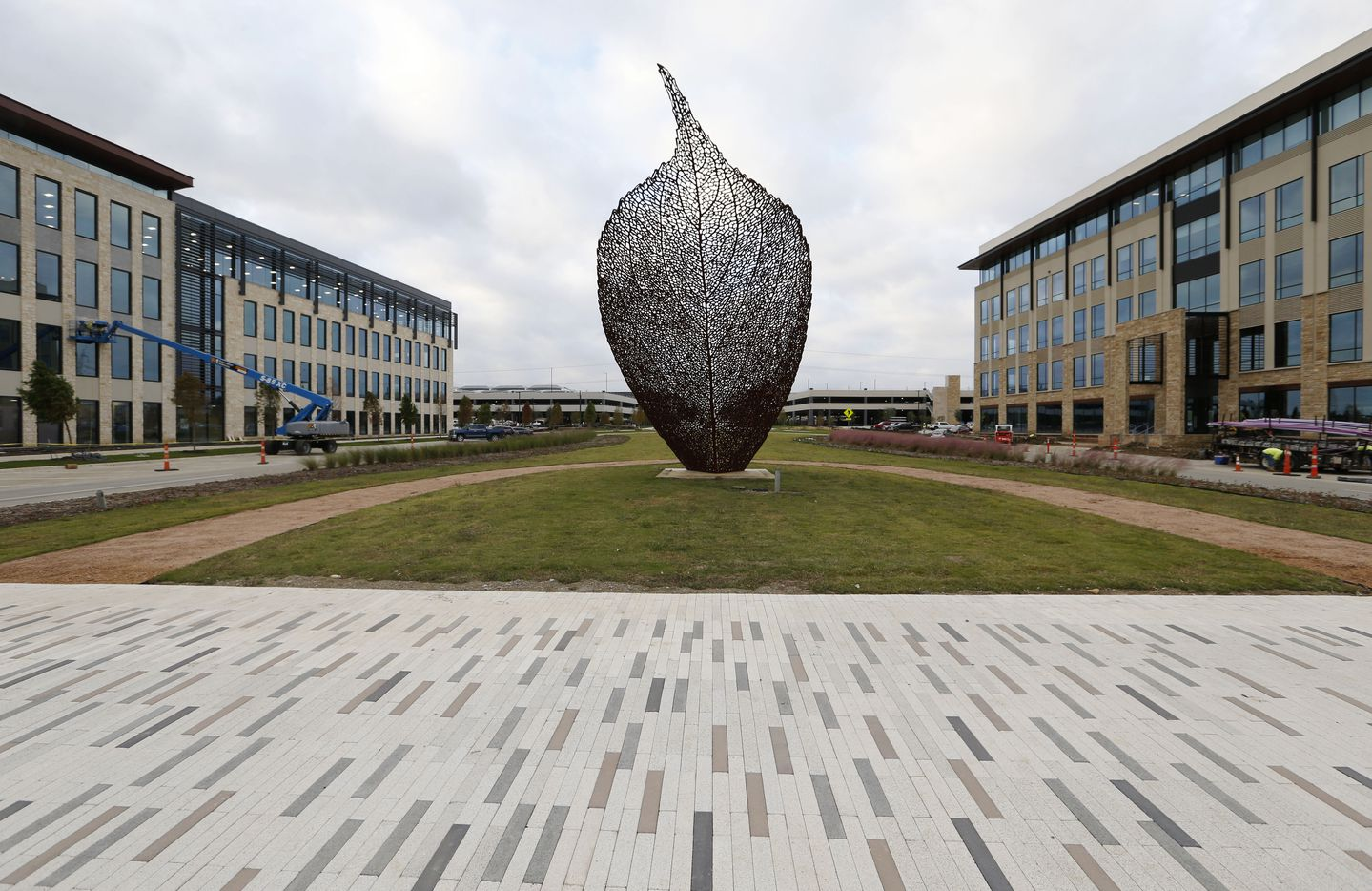 Leaf sculpture by Spanish artist Juanjo Novella at the Cypress Waters development.
