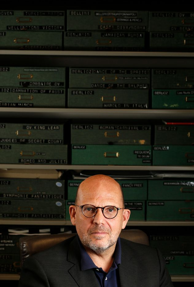 Jaap van Zweden poses for a portrait at the composition library at Meyerson Symphony Center in Dallas on April 18, 2018.