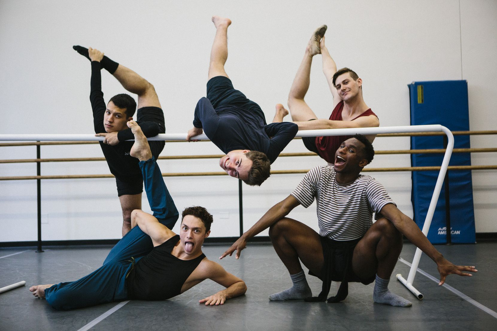 Booker T. Washington alumni Michael Garcia (clockwise from top left), Zane Unger, Todd Baker, Ricardo Hartley and Kade Cummings were all accepted at New York's Juilliard School.