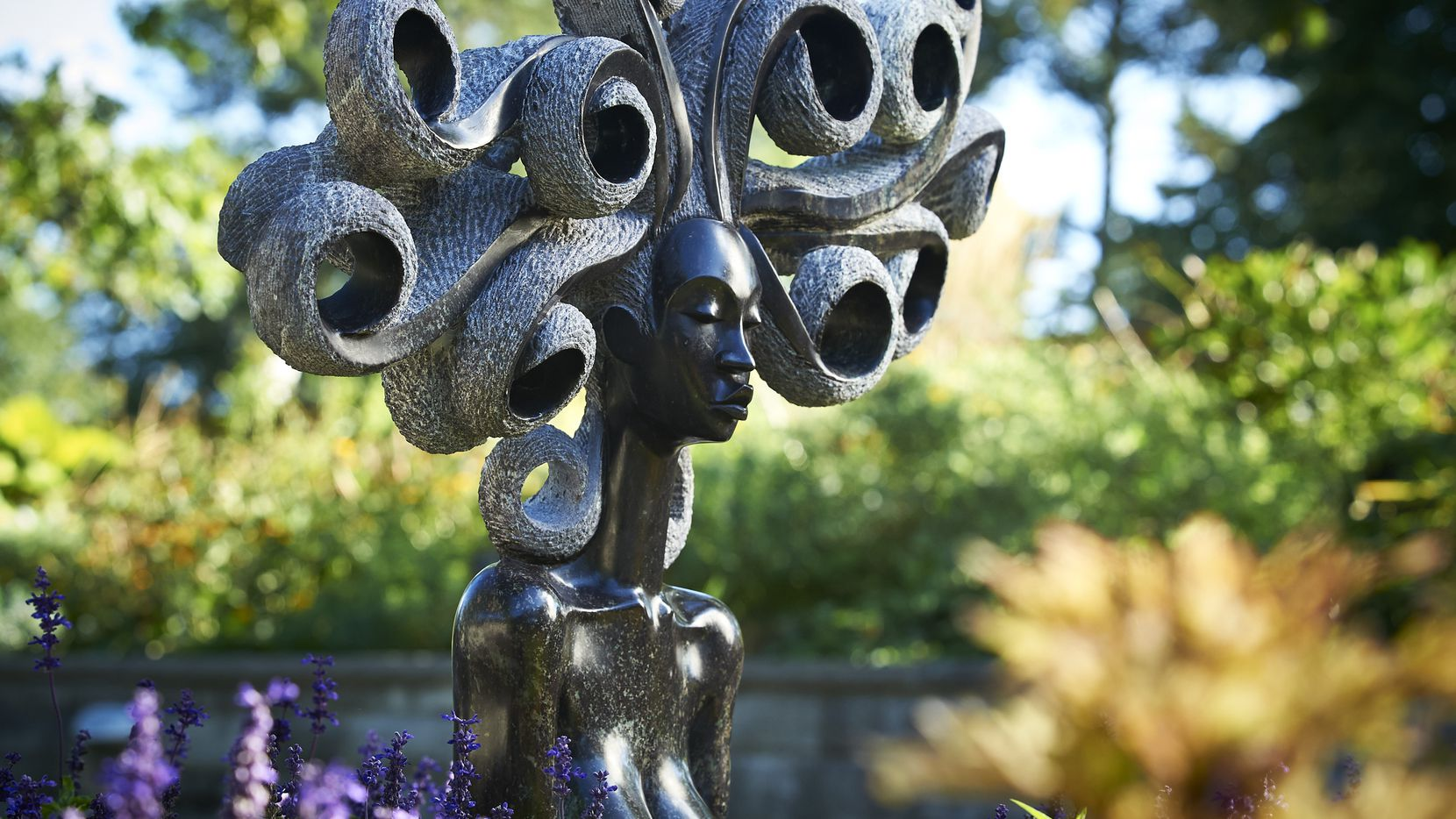 ZimSculpt at the Dallas Arboretum features the talent of several contemporary Zimbabwean artists with more than 100 hand-selected sculptures displayed throughout the garden.
