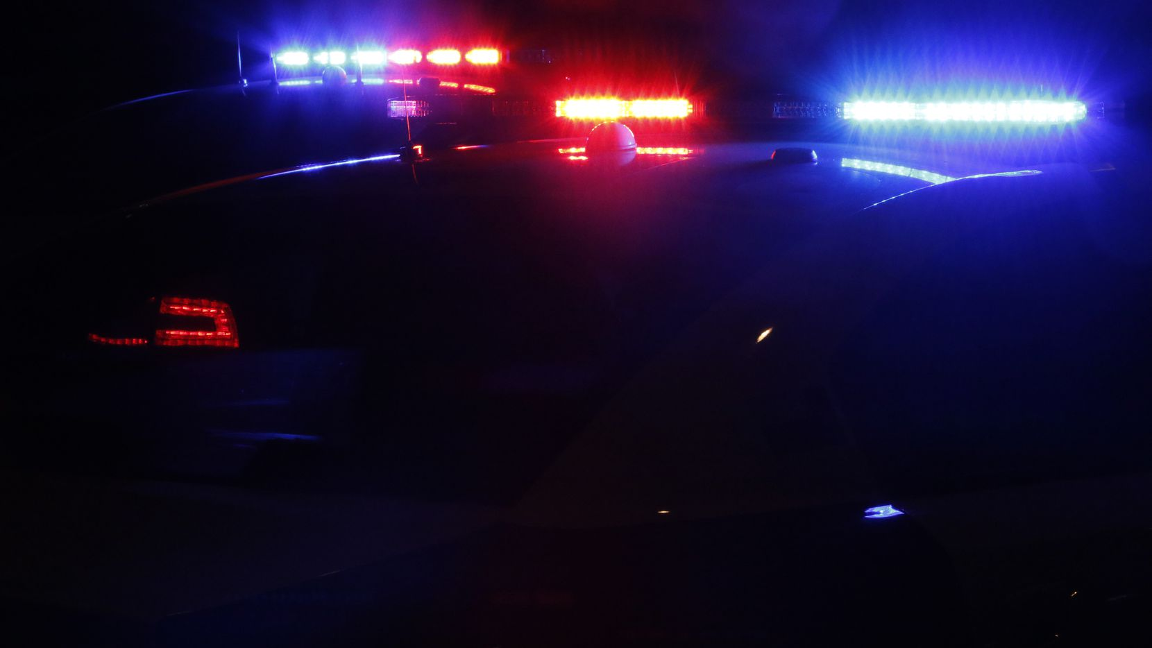 Police lights are seen in this file photo.