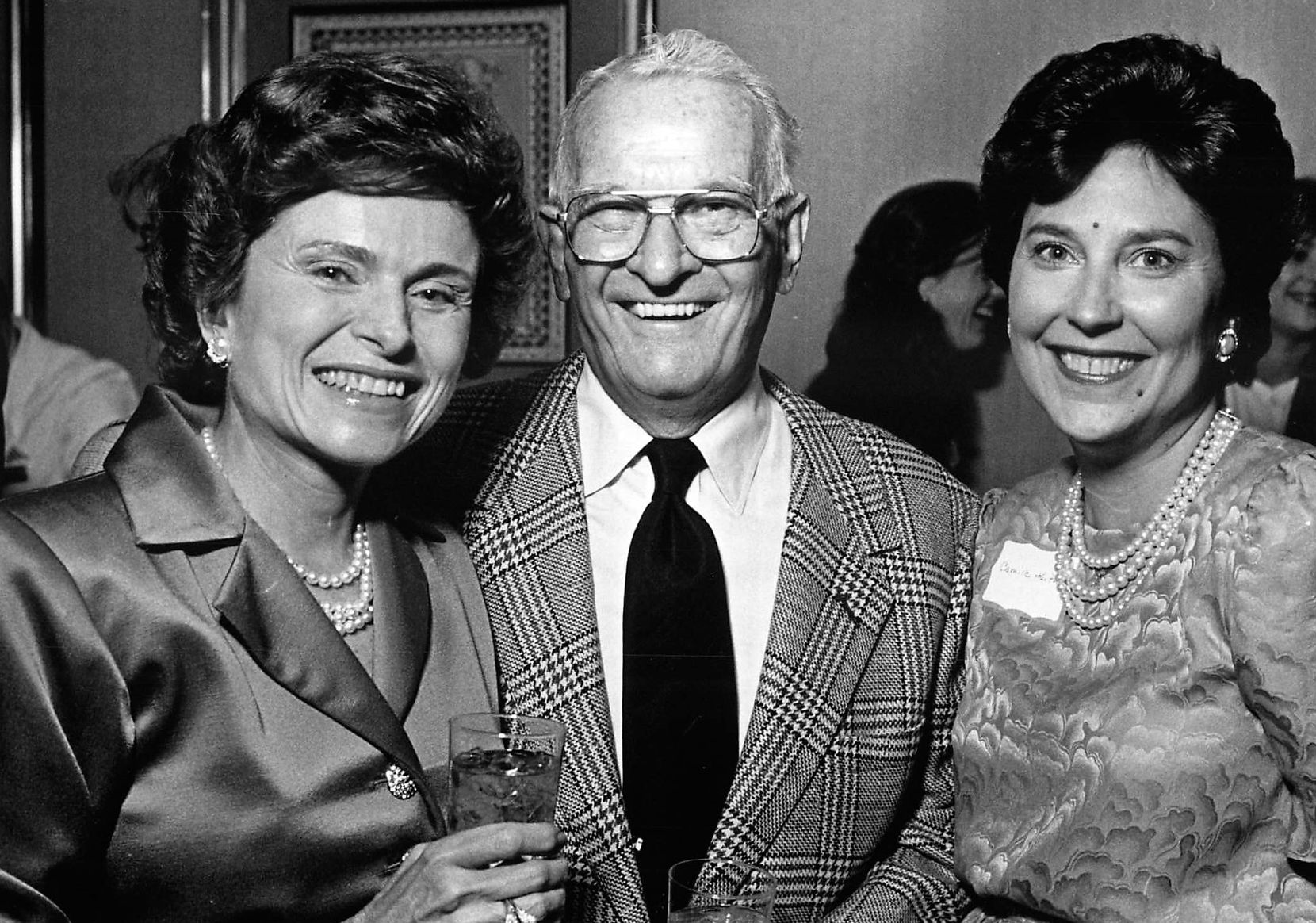 From left: Rita and Bill Clements posed with Camille Keith for this 1989 Fete Set photo while Clements was serving his second term as Texas governor.