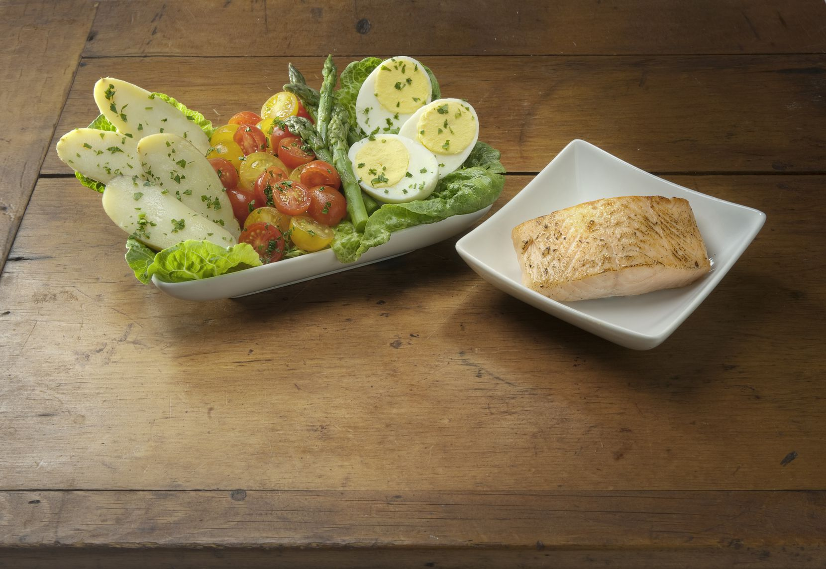 The New School Nicoise with Salmon salad designed by Dallas Chef Julian Barsotti debuted on American Airlines in-flight menus on Nov. 1