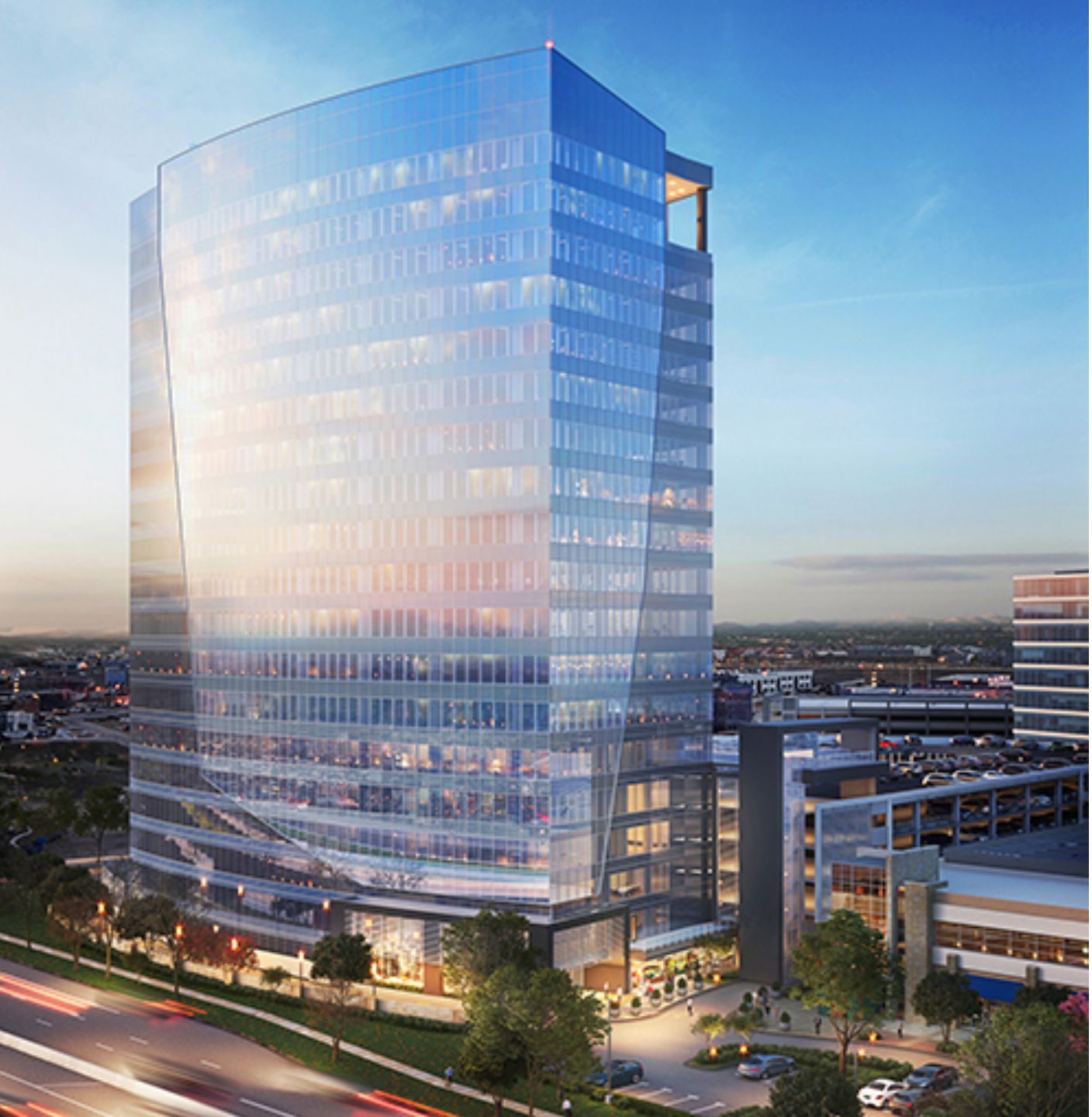 The 18-story Granite Park Six would be the tallest office tower yet in Granite Properties' mixed-use project at S.H. 121 and the Dallas North Tollway.