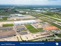 A rendering of the planned TuSimple truck terminal at AllianceTexas. Hillwood and TuSimple plan to begin construction in November.