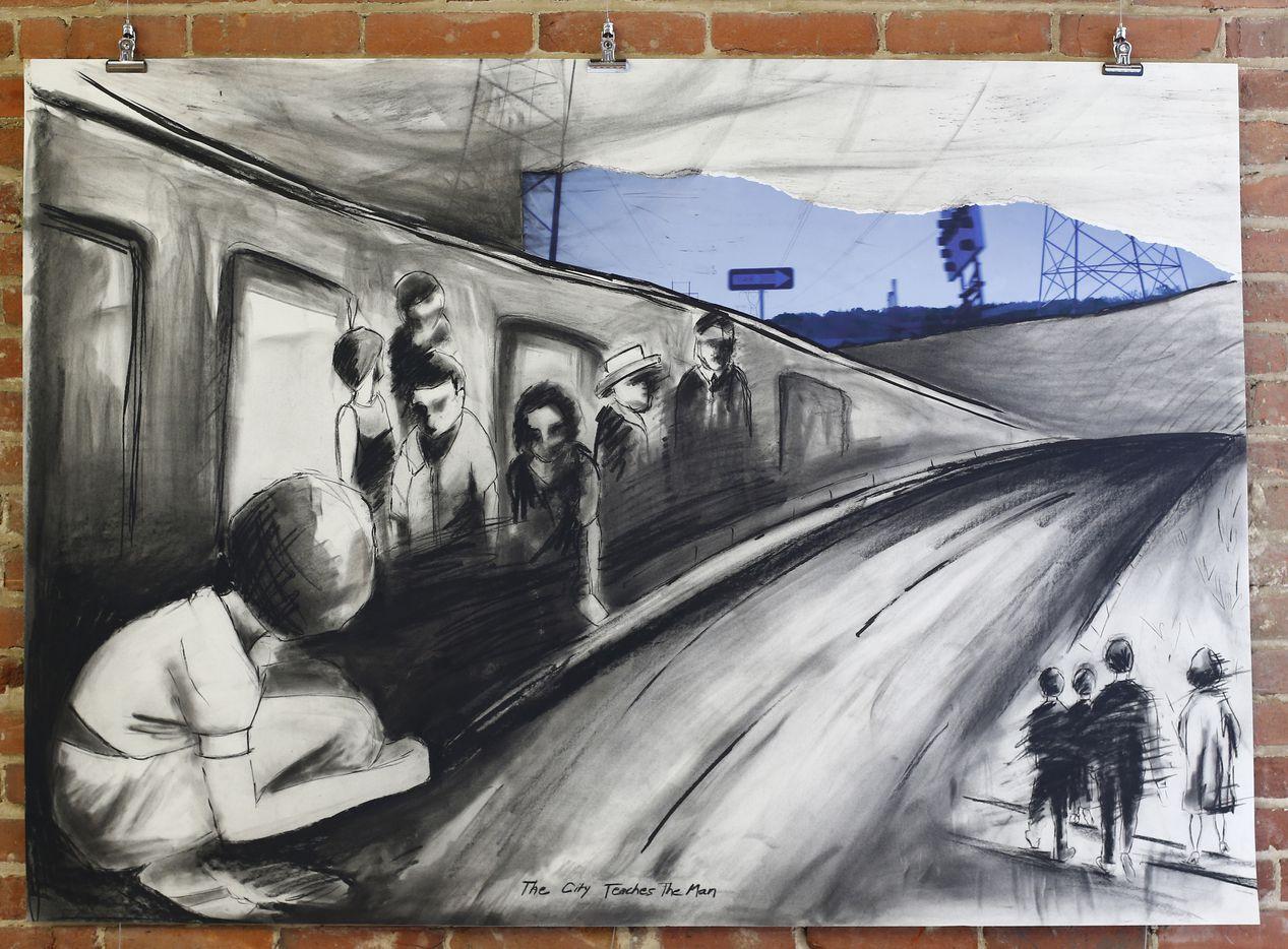 'The City Teaches the Man'  drawn by Erika Jaeggli.